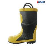 Сталь с поддержкой TOE и промежуточная подошва из пожарных охраны труда работы датчика дождя и освещенности обувь резиновые сапоги