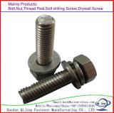 完全な糸の十六進ボルトによって電流を通される炭素鋼DIN933 DIN931