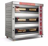 3 plataformas avançadas 9 Bandejas Deck do Gás de equipamentos de cozedura no forno