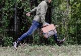 Amazon внешней торговли Vintage мужчин одинаково портфели Canvas Postman Bag Креста орган пакет с ума