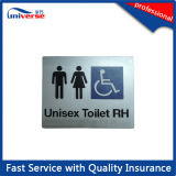 Naar maat gemaakte Signage van het Toilet voor de Plastic Tekens van Braille