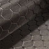 3K 240g Jacquard Carbon Fiber Fabric with Hexagon Weave Pattern