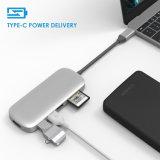 C USB адаптер 3.1 с Тип C разъем для зарядки, выход HDMI, устройство считывания карт памяти, 3 портов USB 3.0