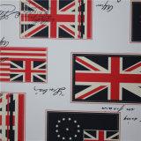 Big Union-Jack impreso cuero artificial de PVC para el ocio sofá