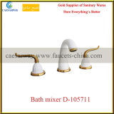 La porcelaine sanitaire Golden salle de bain baignoire encastrée à 3 voies&Mélangeur du bassin