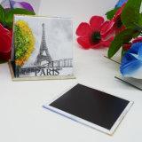 Autoadesivo del magnete di promozione, magnete di carta del frigorifero di Parigi