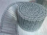 Attache double boucle de fil de fer sur le fil de liaison