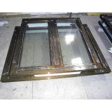 Guichet en aluminium K03015 de tissu pour rideaux de profil de couleur de Brozne de traitement extérieur d'électrophorèse