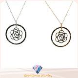 925 ожерелье N6808 шкентеля 925 круглой формы ожерелья стерлингового серебра цепное серебряное