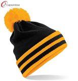 100% acrylique de haute qualité Beanie Hat de bonneterie d'hiver personnalisé (65050099)