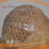 Qualitäts-und Qualitätsgoldform Remy Menschenhaar-Silikon-Perücke