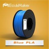 1,75mm PLA de filamentos de color azul de la impresora 3D.