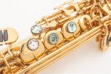 Tout droit Saxophone Soprano /Laque d'Or/fabricant