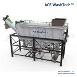 Machine en plastique souillée complètement automatique de recyclage des déchets