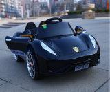 El paseo del bebé en la caja fuerte de la motocicleta del coche embroma el coche eléctrico del juguete