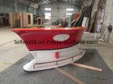 Стол приема формы шлюпки красного цвета для офиса