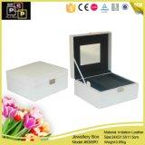 ホワイトボックスPUの革パッキング宝石箱(5355)