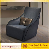 Taupe Blue Fabric Accent Chairs Hotel Sofa_Design Idea