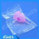 Cuvette menstruelle matérielle de silicones médicaux sûrs et économiques