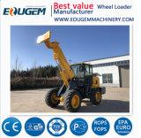 Máquinas agrícolas Eoguem 4WD Carregador telescópica com forquilha de paletes