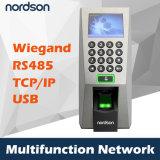 2.4 TCP/IP di Wiegand dello schermo di colore di pollice TFT, lettore di impronta digitale RS232/485