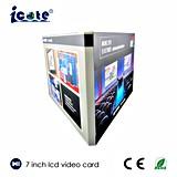 Personalizar creativa 7 pulgadas LCD, Folleto de Publicidad