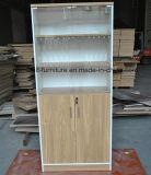Prateleira de madeira da mobília de escritório da biblioteca de vidro do escritório do gabinete de arquivo da porta