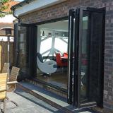 Двери складчатости алюминиевой двери Tempered стекла конструкции дома стеклянные