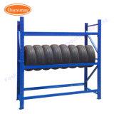 타이어를 위한 다재다능한 고용량 창고 저장 철 금속 프레임 지면 금속 타이어 선반 진열대