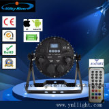 DMX Control Wireless WiFi, 9X18W RGBWA+UV resistente al agua el LED de batería de Luz PAR