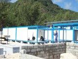 Люди живут дизайн контейнер на место строительства на Сейшельских Островах