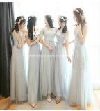 Una línea de dama de honor vestido de fiesta de gasa vestido de noche de baile Z202