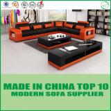 現代イタリアの革角のソファー