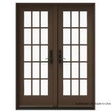 El vidrio Tempered clásico liso en-Hace pivotar la puerta doble del patio