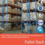 El acero atormenta el estante pesado de las mercancías para el almacenaje del almacén