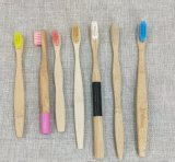 대나무 손잡이 (BC-TO01)에 새겨진 로고를 가진 다채로운 대나무 칫솔
