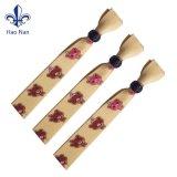 Wristband stampato tessuto poco costoso con la serratura di plastica