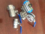 Aangepast Pn16 Hoog Platform 3 Stukken de Kogelklep van de Draad/van de Flens Met Pneumatische Actuator