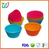 Moulage approuvé par le FDA en gros de silicones de gâteau d'usine mini