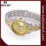 Relógios do presente das senhoras do projeto do diamante do seletor da flor de Belbi