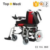 El sillón de ruedas electrónico del cuidado médico de la potencia lisiada plegable médica del equipo tasa la Arabia Saudita