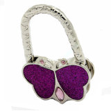カスタマイズされた金属紫色カラー蝶形袋の財布のハンガー