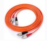 Cordons de connexion duplex de fibre de FC-Rue millimètre 62.5/125