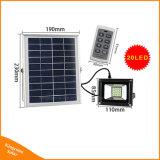 Luz solar de Seguridad de la pared exterior de la Energía Solar lámpara de proyector LED de 20