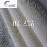 Diseño simple blanco teñido de tejidos de hilo de poliéster tela Colchones