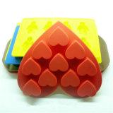 Bandeja de gelo do silicone do molde da forma do coração das pilhas Sy04-01-006 10