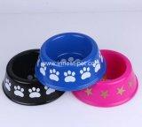 Китай на заводе Пэт Paw-Printings пластиковый голубой кошки собака чаша