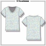 주문 설계되는 여자 압축 착용 간결 t-셔츠