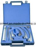 Jogo médico reusável do Laryngoscope da fibra óptica de Macintosh Miller