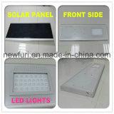 15W Rue lumière solaire extérieur intégré avec panneau solaire